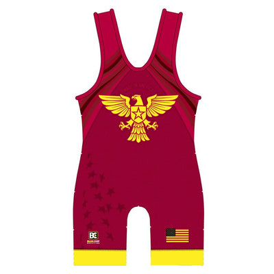 Made 4 U Made in America Wrestling Singlet (Red)