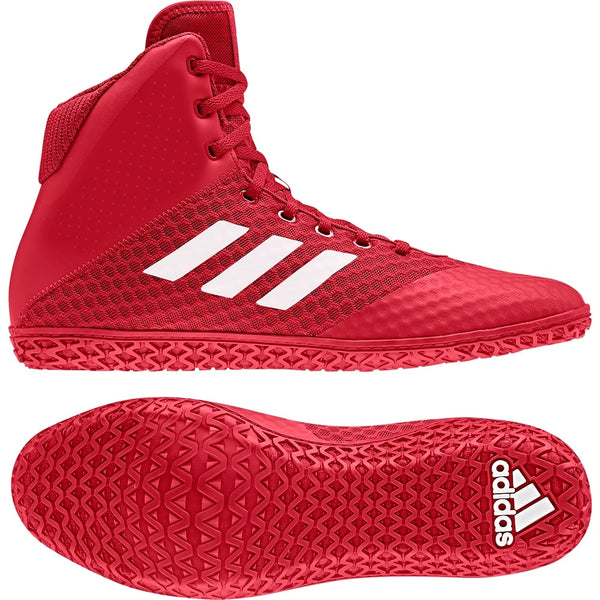 Adidas Mat Wizard 4 Wrestling Shoes Red White Blue