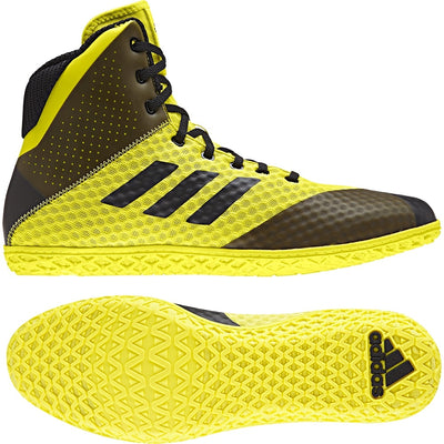 Adidas Mat Wizard 4 Wrestling Shoes (Yellow / Black)
