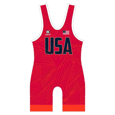 MIA 4.0 Red Wrestling Singlet