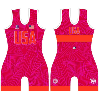 MIA 4.0 Red Women's Wrestling Singlet