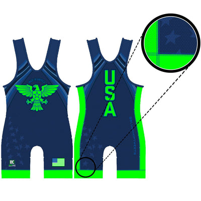Made in America Wrestling Singlet (Blue)