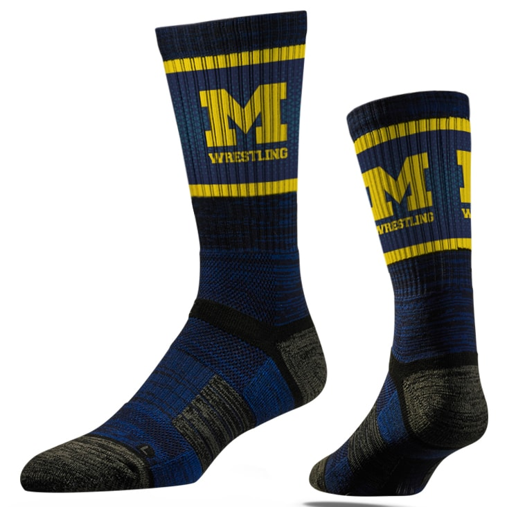 Michigan Wolverines Wrestling Performance Socks