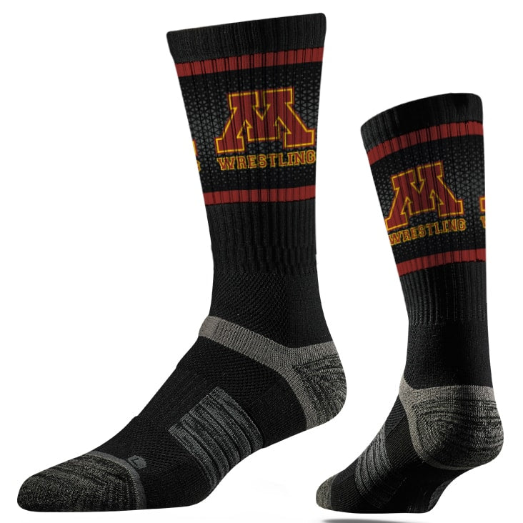 Minnesota Golden Gophers Wrestling Performance Socks