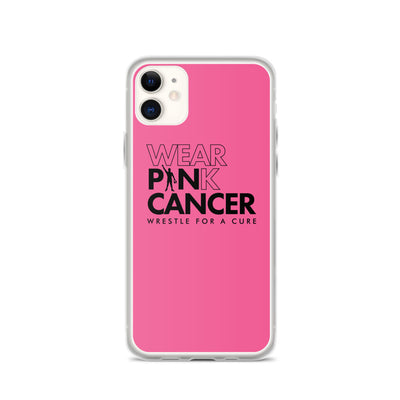 Wear Pink Pin Cancer iPhone Case
