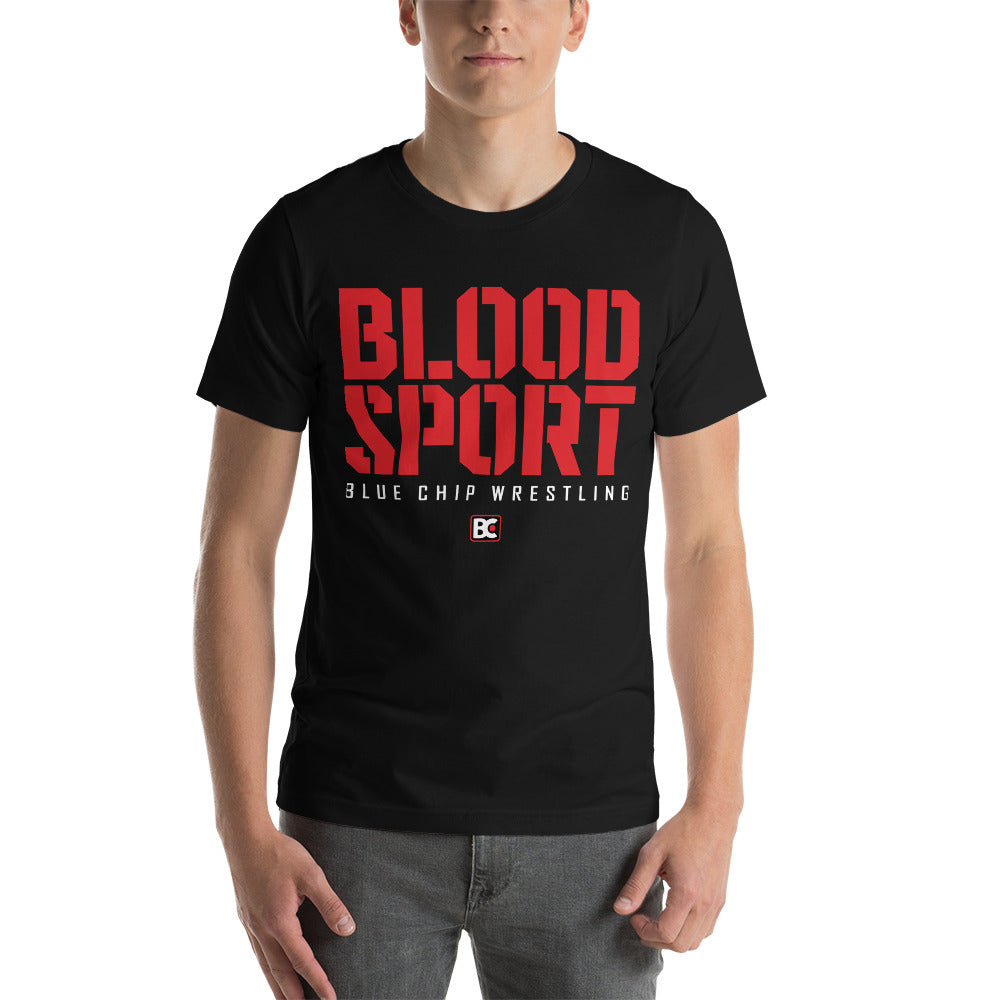 Blood Sport Customizable Premium Wrestling T-Shirt