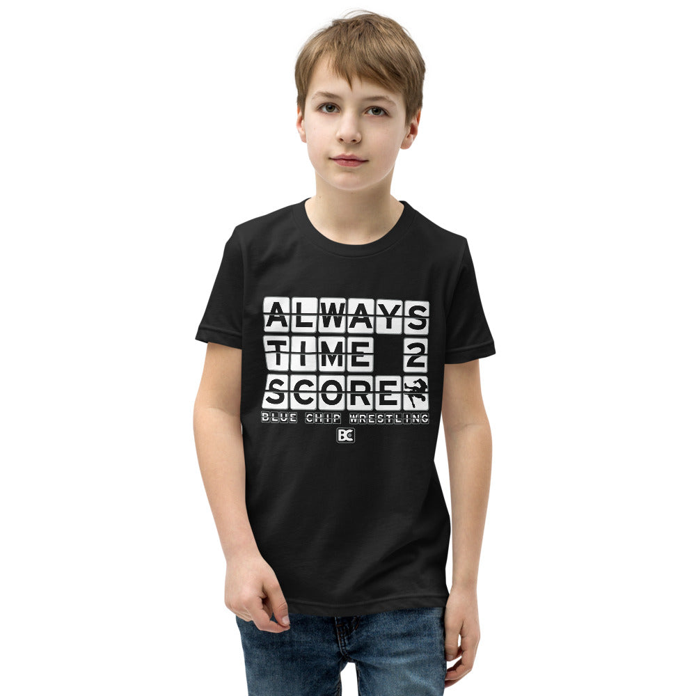 Always Time To Score Youth Premium Wrestling T-Shirt
