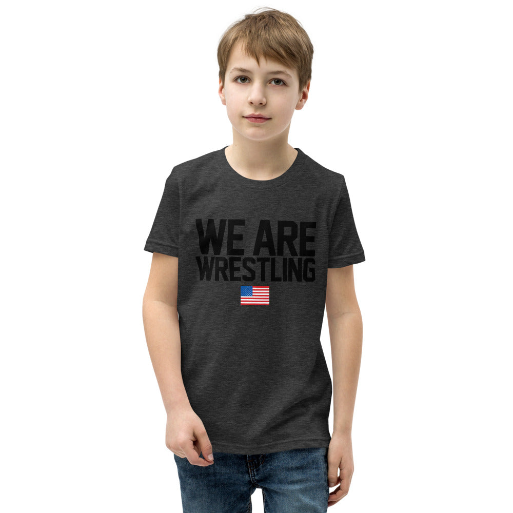 We Are Wrestling Youth Premium Wrestling T-Shirt
