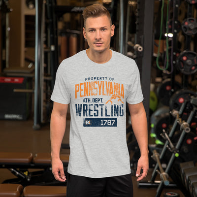 Property of Pennsylvania Customizable Premium Wrestling T-Shirt