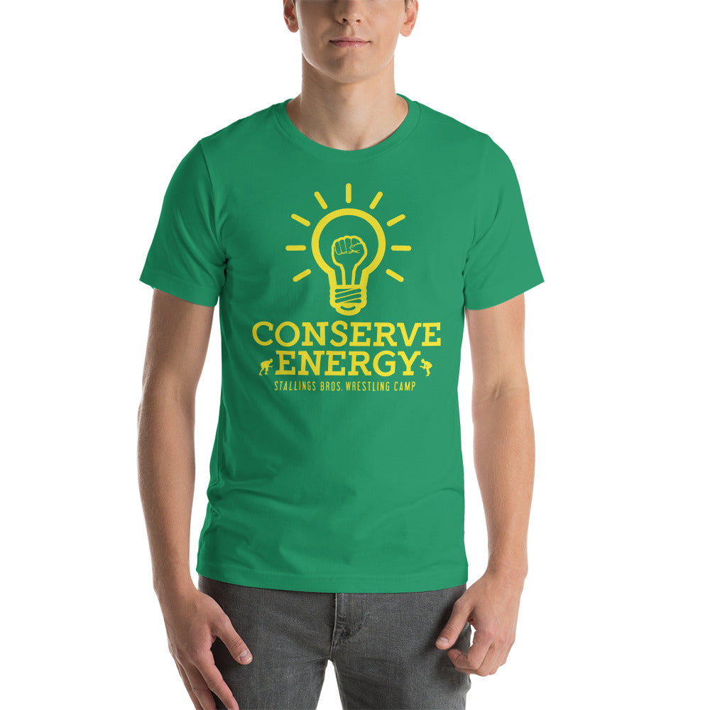Conserve Energy Customizable Premium Wrestling T-Shirt