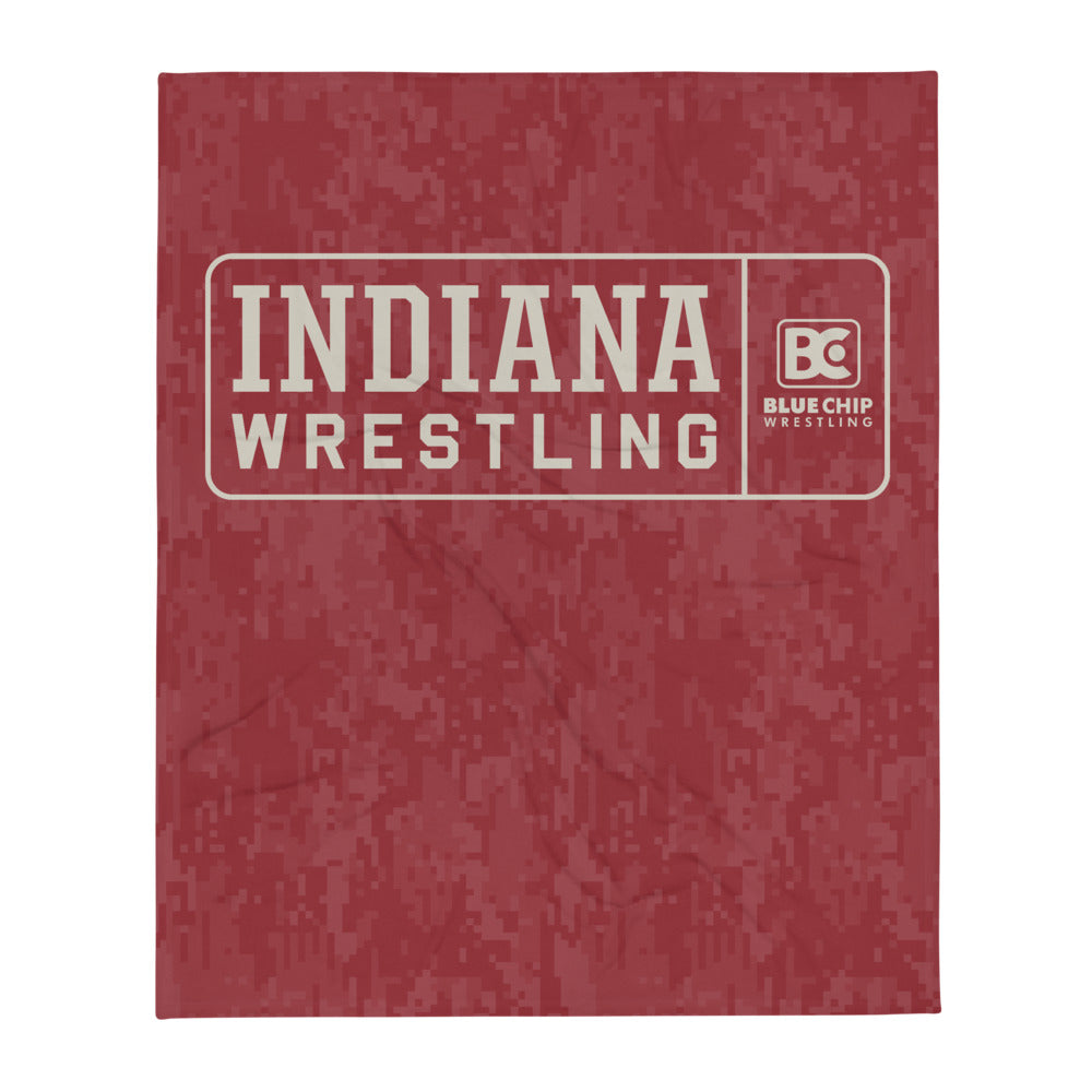 Indiana Wrestling Clinic Throw Blanket