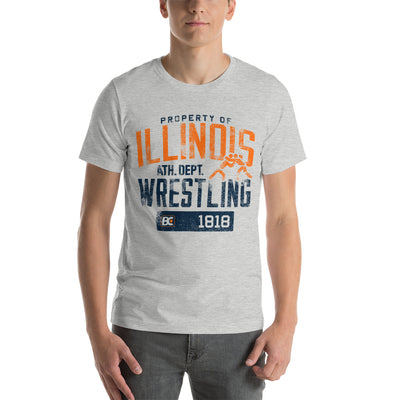 Property of Illinois Customizable Premium Wrestling T-Shirt