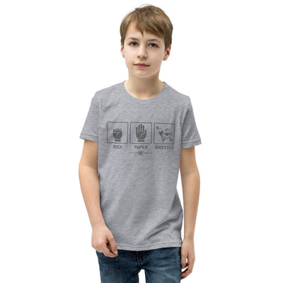Rock Paper Wrestle Youth Customizable Premium Wrestling T-Shirt