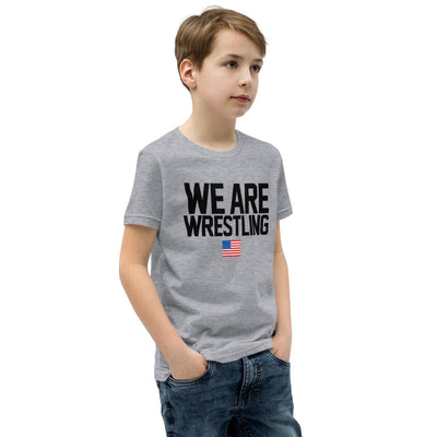 We Are Wrestling Youth Customizable Premium Wrestling T-Shirt