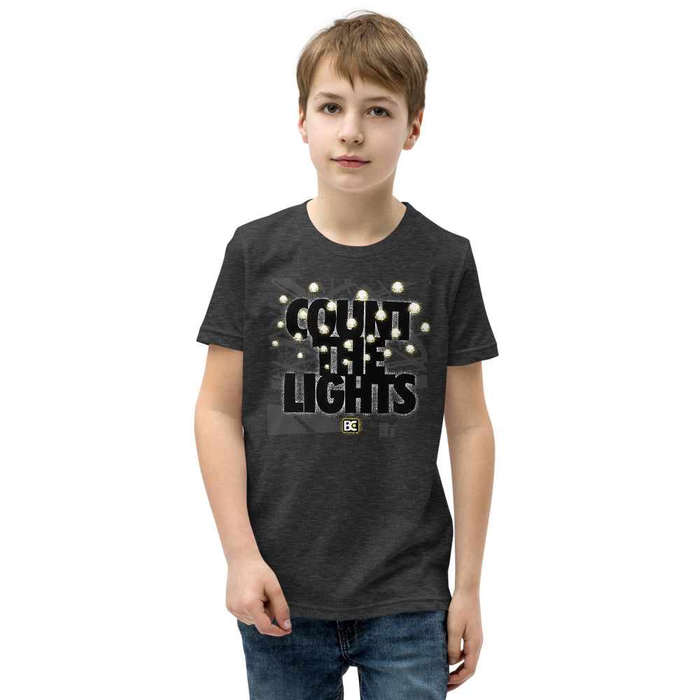 Count the Lights Youth Customizable Premium Wrestling T-Shirt