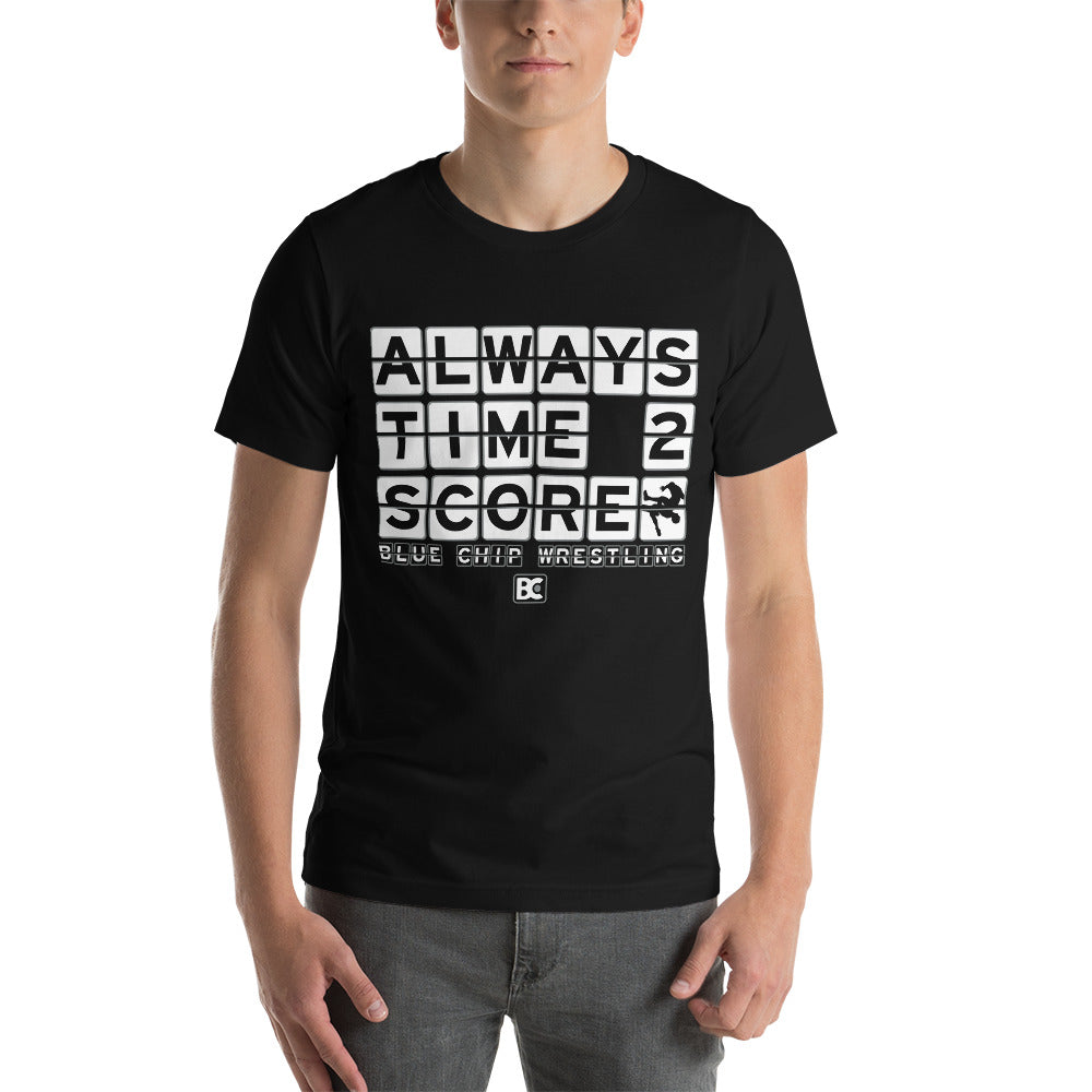 Always Time To Score Customizable Premium Wrestling T-Shirt