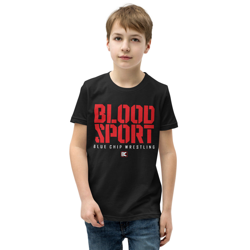 Blood Sport Youth Customizable Premium Wrestling T-Shirt