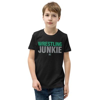 Wrestling Junkie Youth Customizable Premium Wrestling T-Shirt