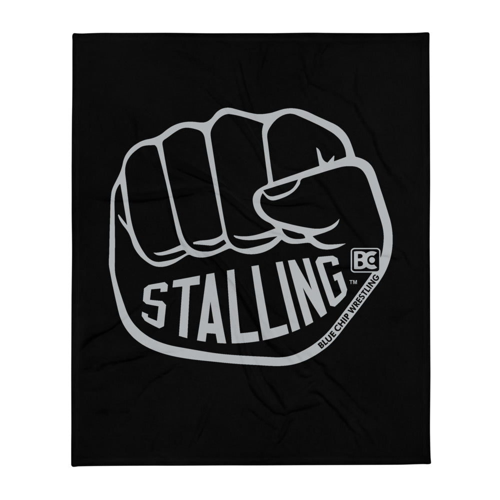 Stalling Fist Wrestling Throw Blanket