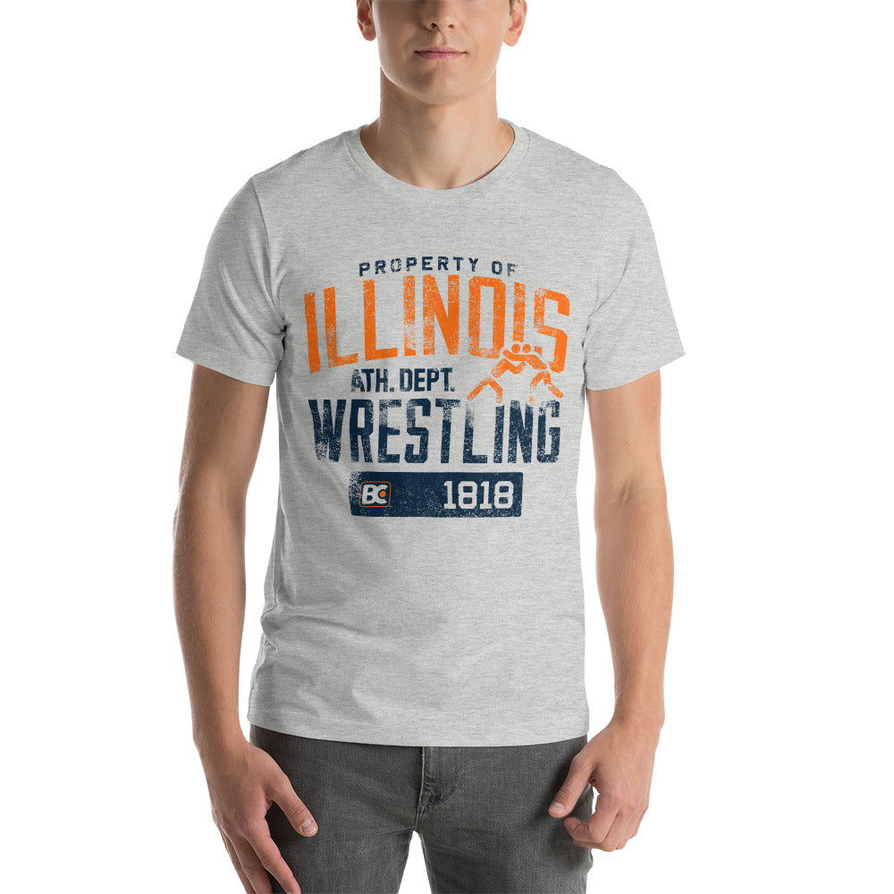 Property of Illinois Premium Wrestling T-Shirt