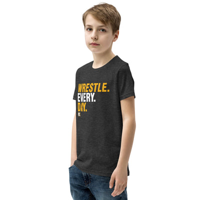 Wrestle Every Day Youth Customizable Premium Wrestling T-Shirt