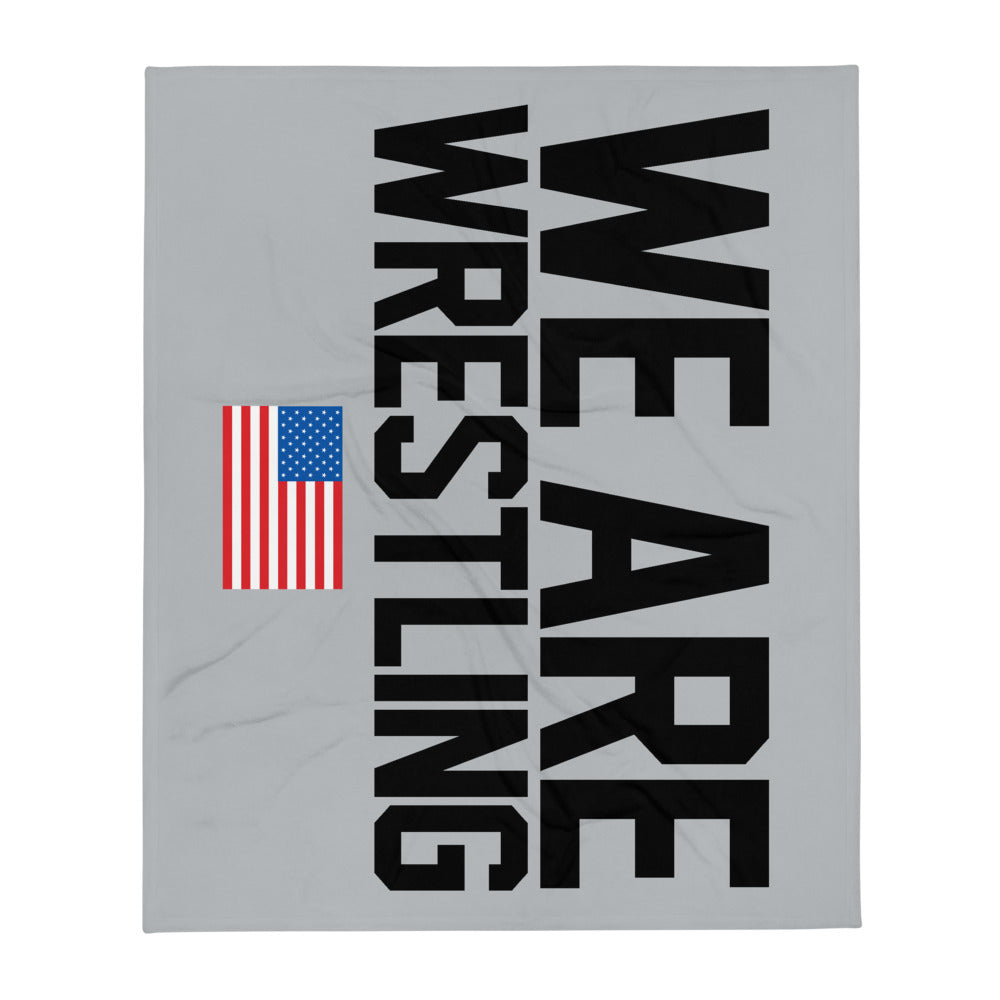 We Are Wrestling Throw Blanket