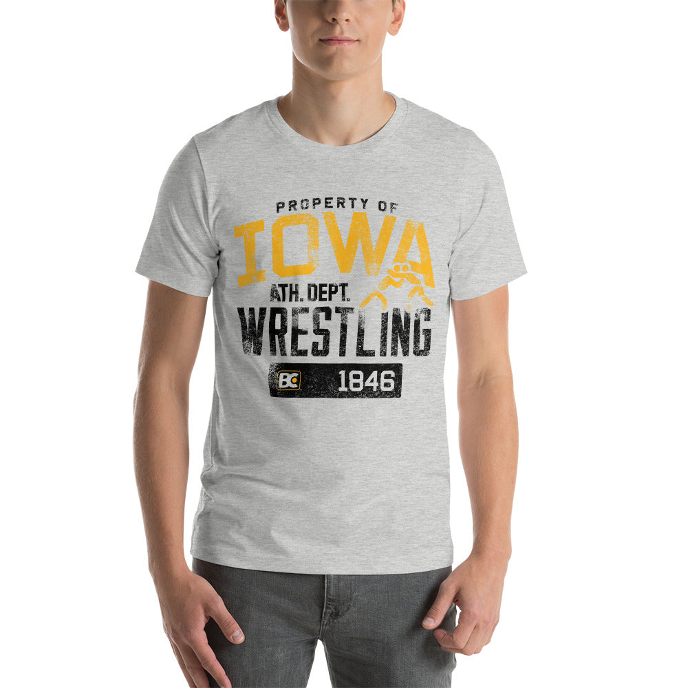 Property of Iowa Premium Wrestling T-Shirt