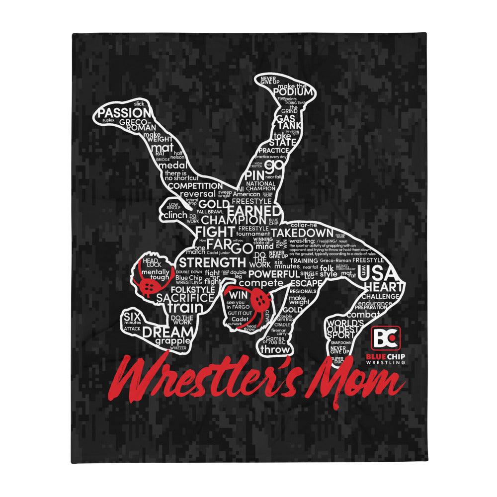 Wrestler's Mom Throw Blanket
