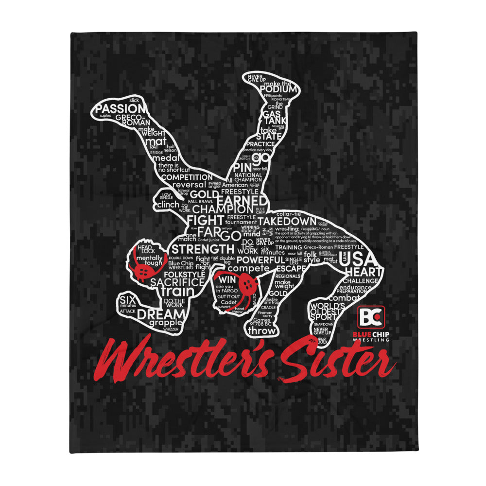 Wrestler's Sister Throw Blanket