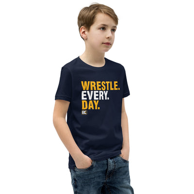 Wrestle Every Day Youth Premium Wrestling T-Shirt