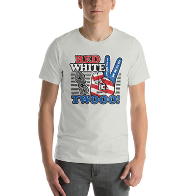 Red White and Twooo Premium Wrestling T-Shirt