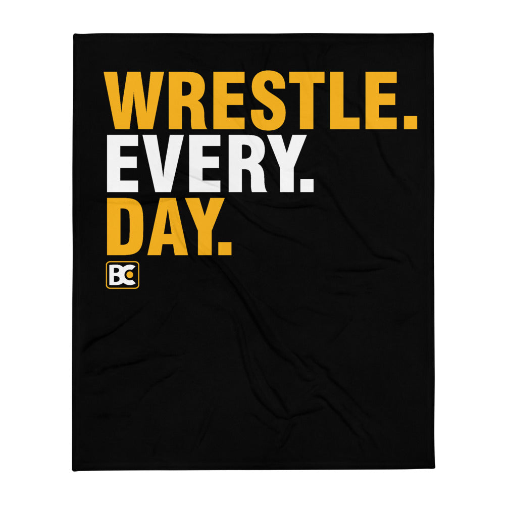Wrestle Every Day Wrestling Throw Blanket