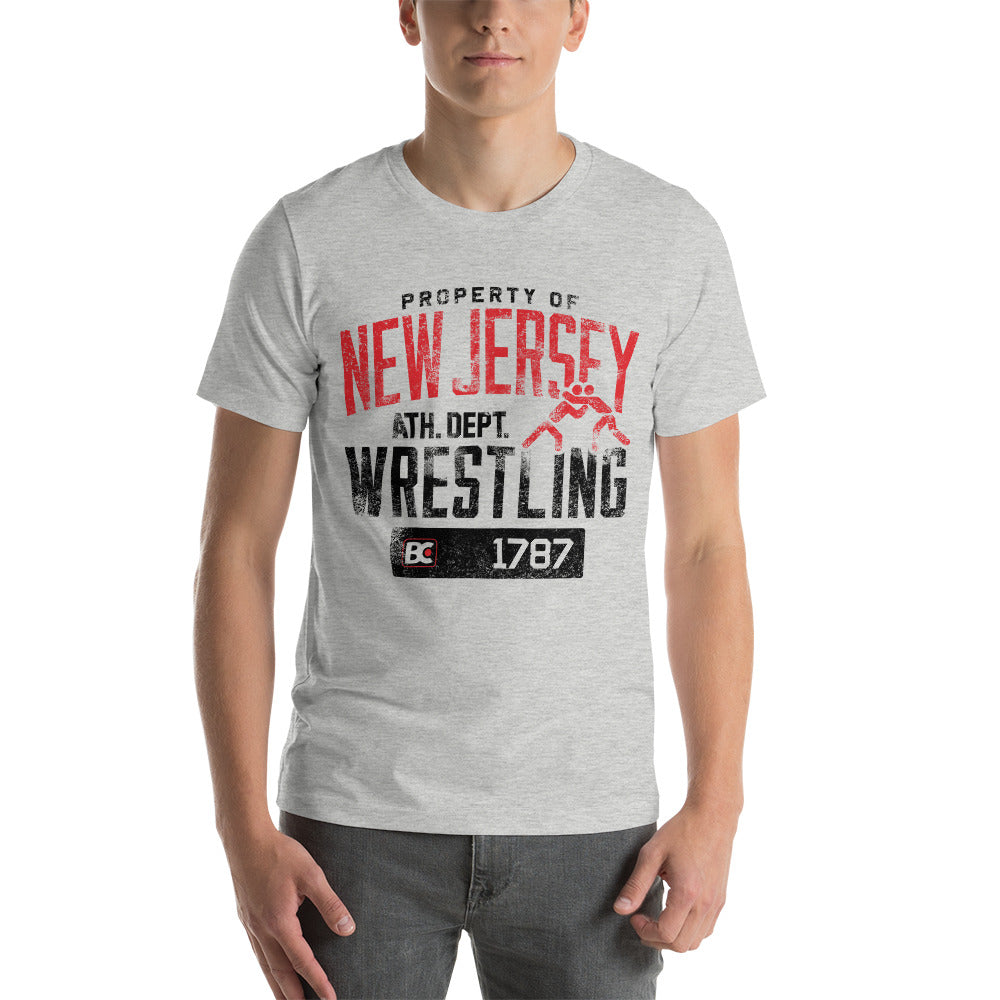 Property of New Jersey Customizable Premium Wrestling T-Shirt