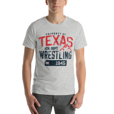 Property of Texas Customizable Premium Wrestling T-Shirt