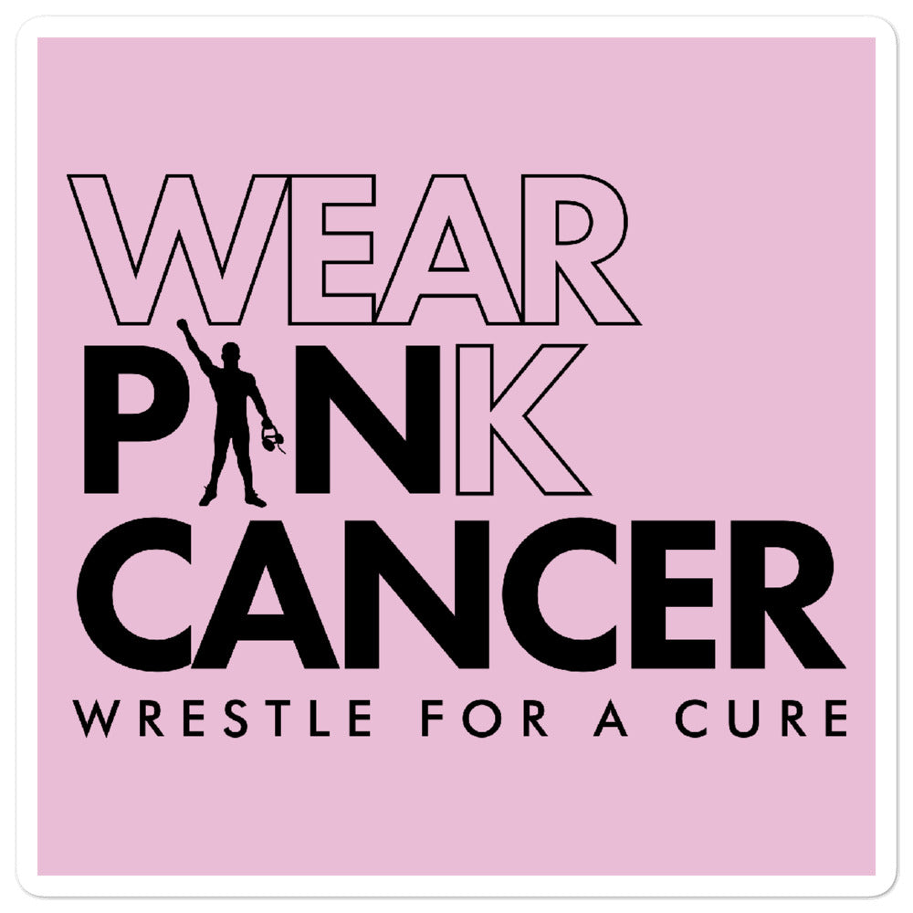"Wear Pink Pin Cancer 5.5"" Sticker"