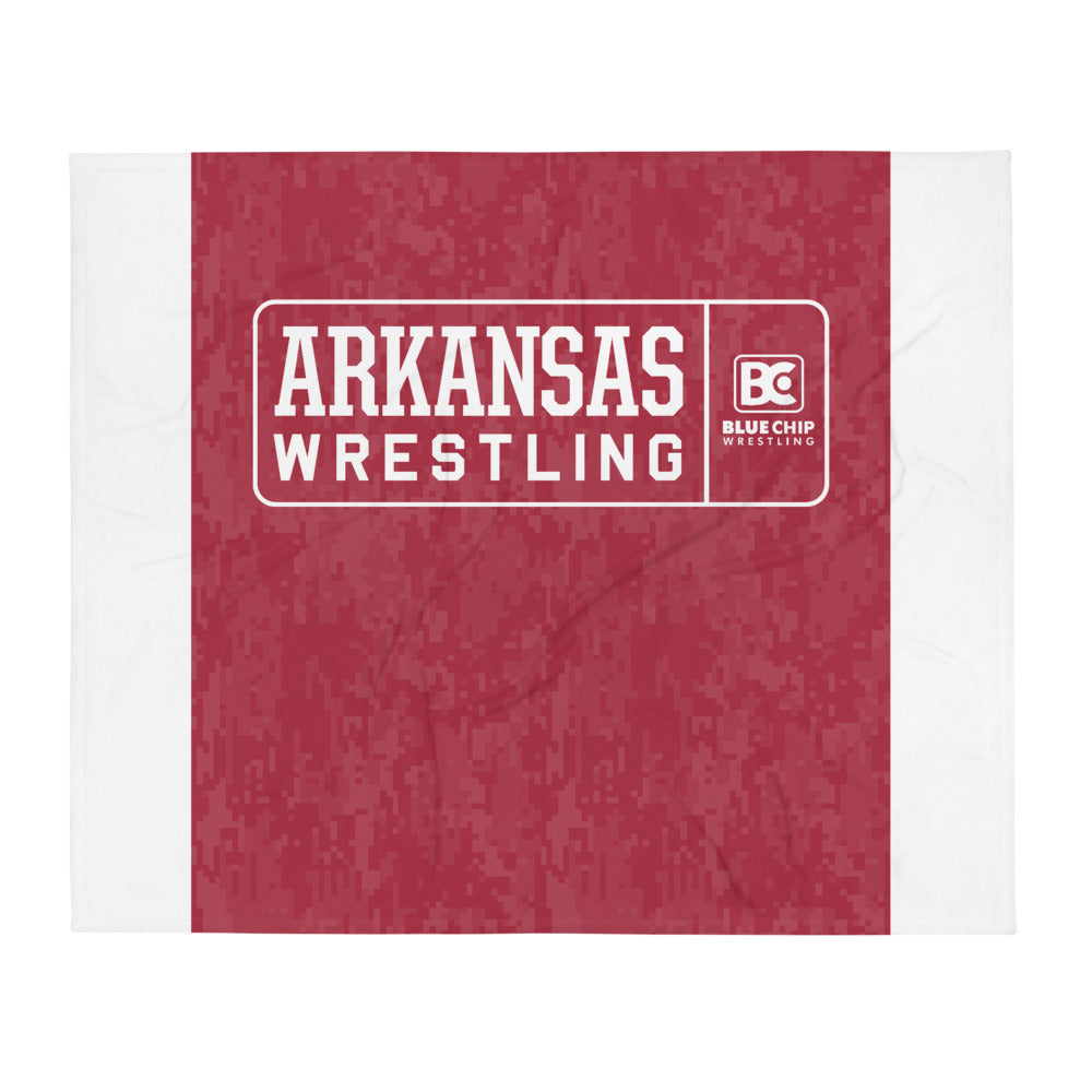 Arkansas Wrestling Clinic Throw Blanket