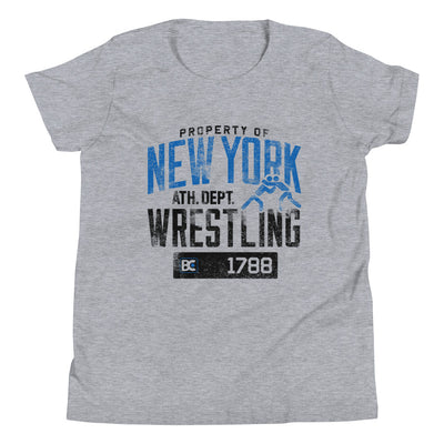 Property of New York Youth Premium Wrestling T-Shirt