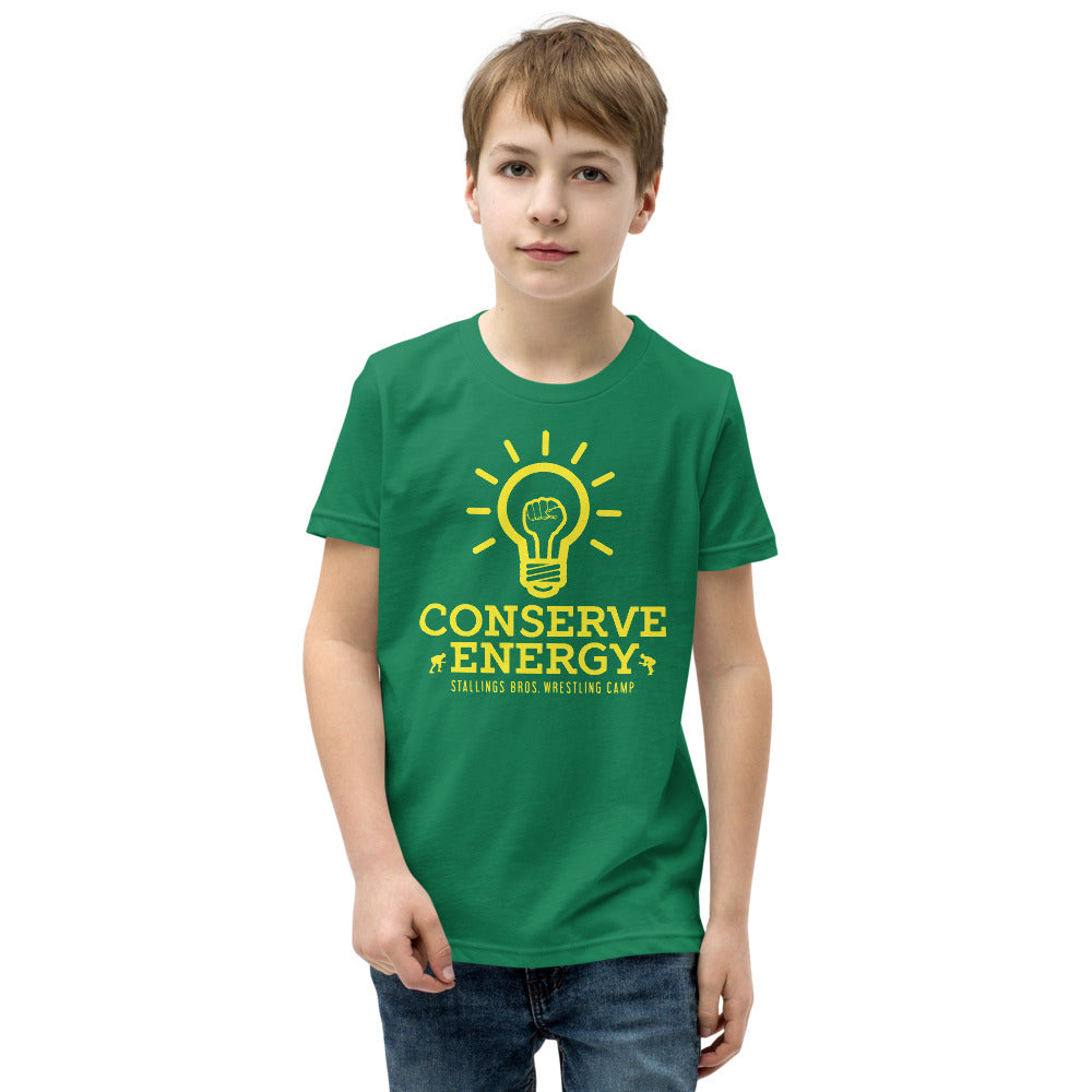 Conserve Energy Youth Customizable Premium Wrestling T-Shirt
