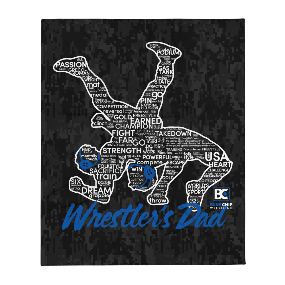 Wrestler's Dad Throw Blanket