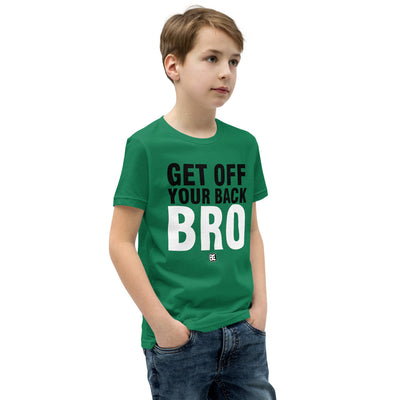 Get Off Your Back Bro Youth Customizable Premium Wrestling T-Shirt