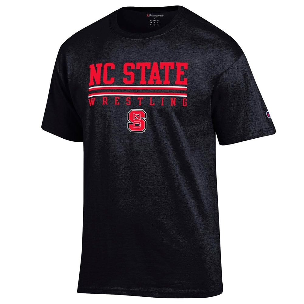 NC State Wolfpack Wrestling Champion Short Sleeve Tee