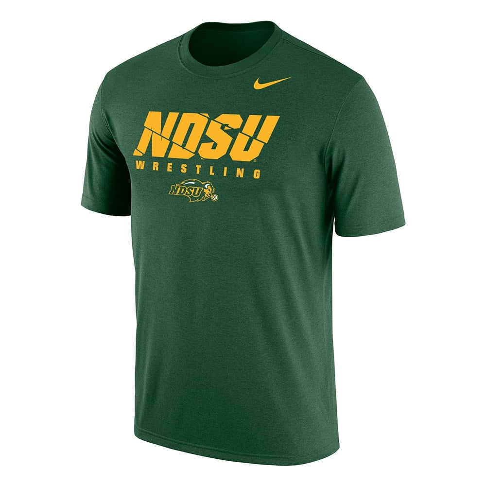 NDSU Thundering Herd Wrestling Nike Dri-Fit Cotton Tee