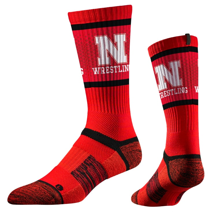 Nebraska Huskers Wrestling Performance Socks