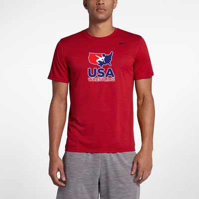 Nike USA Wrestling Legend Tee (Red)