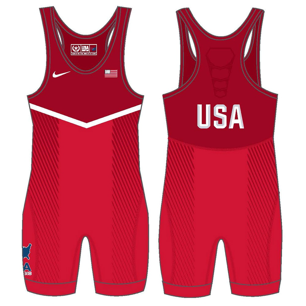 Nike USA Wrestling Red Singlet