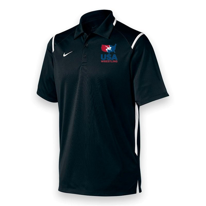 Nike USA Wrestling Game Day Polo (Black)