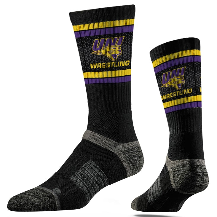 Northern Iowa University Panthers Wrestling Performance Socks