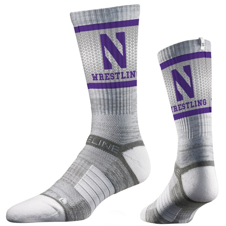 Northwestern Wildcats Wrestling Performance Socks