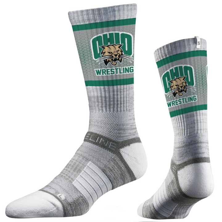 Ohio Bobcats Wrestling Performance Socks