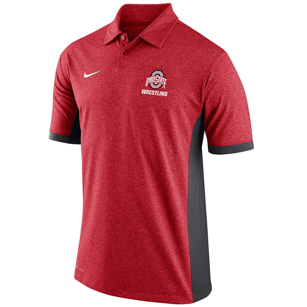 Ohio State Wrestling Nike Victory Polo
